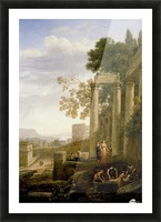 Landscape with Burial of St. Serapia Picture Frame print