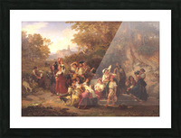 Neapolitan Peasants at a Fountain 1859 Picture Frame print