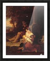 Pilgrims Reposing at a Cross Picture Frame print
