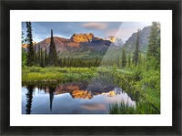 Reflection Of Skookum Volcano Picture Frame print