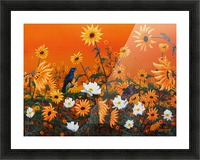 Sunflowers & Prickly Poppies Picture Frame print