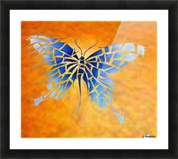 Tropenillo V1 - the blue butterfly Picture Frame print