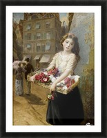 A girl selling roses Picture Frame print