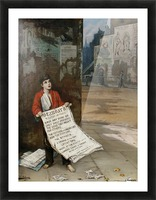 A London Newsboy 1893 Picture Frame print