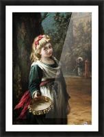 A young blonde girl Picture Frame print