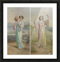 Two youg fairies Picture Frame print