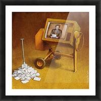 concrete mixer ( propaganda ) Picture Frame print