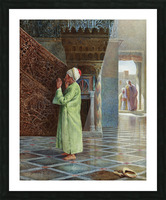 At prayer in the mosque Picture Frame print