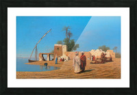 A Village on the Shores of the Nile Picture Frame print