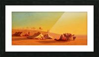 A halt in the desert Picture Frame print
