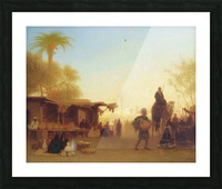 A Cairo bazaar at dusk Picture Frame print