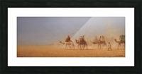 Caravanes traversant le desert Picture Frame print