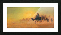 Caravan traveling in the desert Picture Frame print