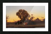 Arab encampment at sunset Picture Frame print