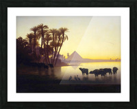 Along the Nile at Giza Picture Frame print