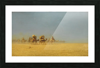 Camel train in the desert Picture Frame print