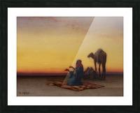 Arab at prayer Picture Frame print