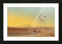 Oasis pres des pyramides Picture Frame print