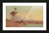 Caravan to the oasis Picture Frame print
