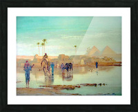 Nile overflow Picture Frame print