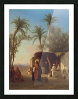 Arab encampment in an oasis nearby Picture Frame print