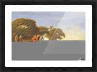 Arab encampment with trees in the back Picture Frame print