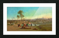 A Camel Train at an Oasis, Cairo Beyond 1853 Picture Frame print