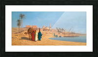Conversation on the banks of the Nile Picture Frame print