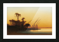 Sunset on the Nile Picture Frame print
