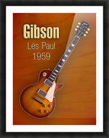 Vintage Gibson Les paul 1959 Picture Frame print