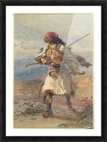 Greek Warrior Impression et Cadre photo