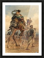 A family crossing the desert Picture Frame print