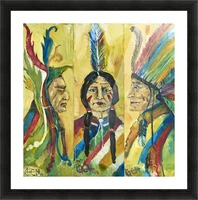 tribe Picture Frame print