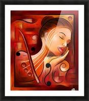 Casselopia - Violin dream Picture Frame print