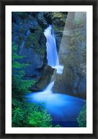 A Beautiful Waterfall, Johnston Canyon, Banff, Alberta, Canada Picture Frame print