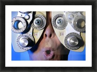 Eye Exam Picture Frame print