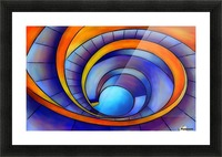 Melanissia - abstract moonrise Picture Frame print