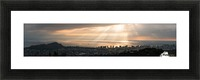 Sunset over Honolulu Picture Frame print
