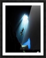 dark cave ver Picture Frame print