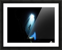 Dark cave Picture Frame print
