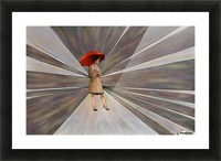Limessia - beauty with umbrella Picture Frame print