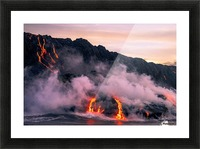 Sunrise at the lava flow Picture Frame print