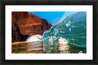 Glass wave Picture Frame print