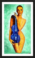 Bellaseussa - beauty with violin Picture Frame print