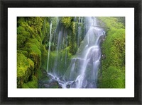 Waterfall Over Moss-Covered Rocks Picture Frame print