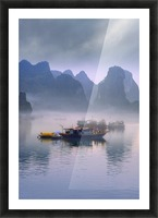Junks On Halong Bay Picture Frame print
