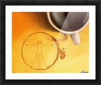 coffee man Picture Frame print