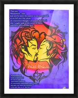 that kiss2 Picture Frame print