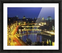 Dublin, Co Dublin, Ireland; View Of The River Liffey At Nighttime Picture Frame print