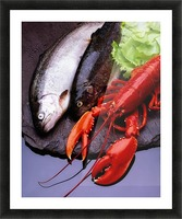 Lobster And Trout Picture Frame print